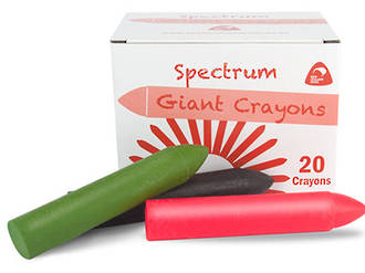 Crayon Spectrum Hard Giant Fluro Orange Box of 20