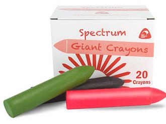 Crayon Spectrum Hard Giant Pink Box of 20