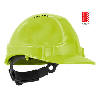 Hat Hard TN1-R Ratchet Harness Neon Yellow