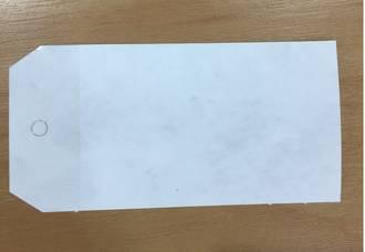 White ShippingTags #5 120x60mm Waterproof