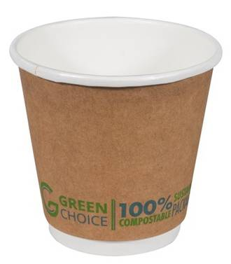 Cups Green Choice Double Wall Cup PLA - 8oz