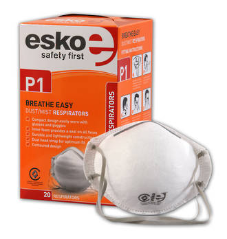 Esko Dust Mask PC301e P1 Non-Valved  Box of 50