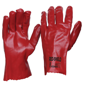 E360 Single Dipped Red PVC 270mm (One Size)
