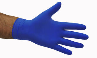 Glove Disposable Latex Blue S-XL