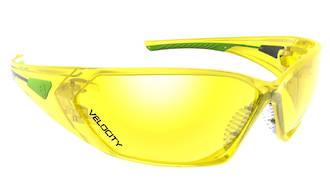Velocity Amber Lens Safety Specs Anti-fog & Scratch/UV