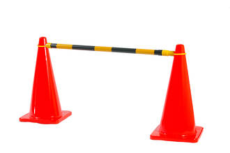 Extendable Cone Barrier Bar Yellow/Black