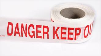 Safety Barrier Tape 'DANGER KEEP OUT'  75x250m