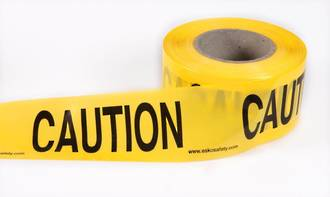 Safety Barrier Tape 'CAUTION'  75x250m