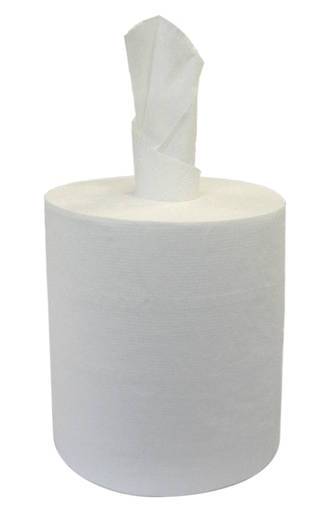 Paper Towel Pacific Centrefeed White 2 Ply 22cmx180m Ctn of 6