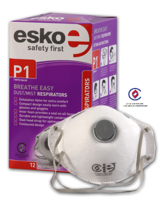 Esko Dust Mask PC315e P1 Valved Box of 12