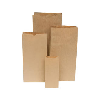 Paper Bag Block Bottom #5 205x125x445 Pkt 200