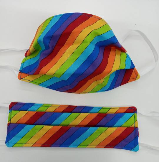 Rainbow Stripe Fabric Facemask