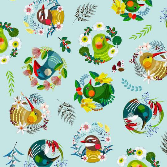 Feathered Friends Fat Quarter