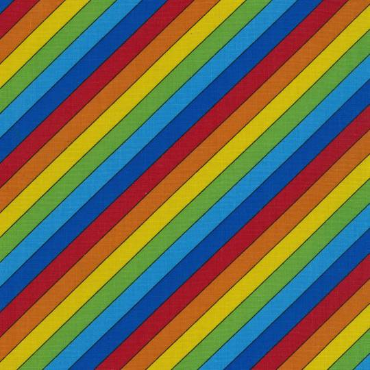 Rainbow Stripe Fat Quarter