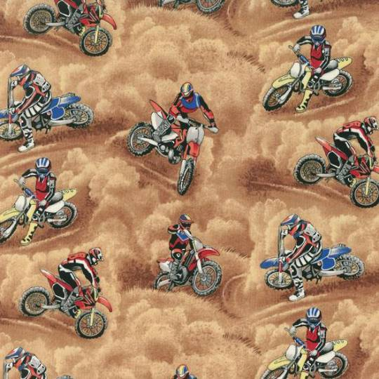 Motorcross Motorbikes Fat Quarter
