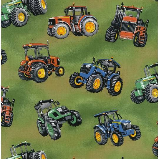 Tractor Time Fat Quarter