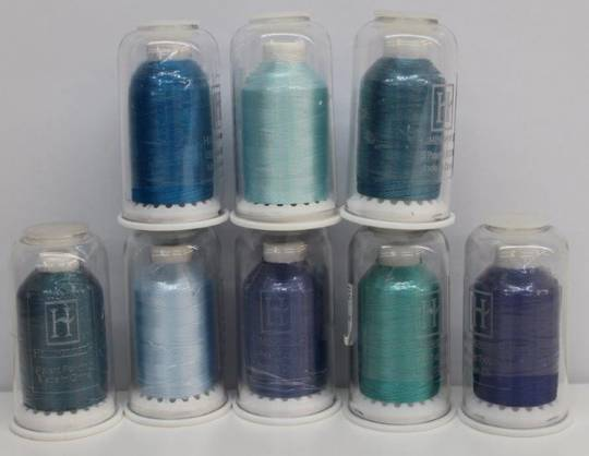 Hemingworth Thread  Blue and Purple  Shades