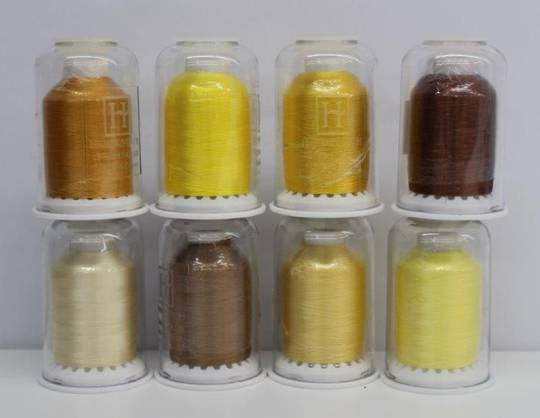 Hemingworth Thread Yellow and Brown Shades