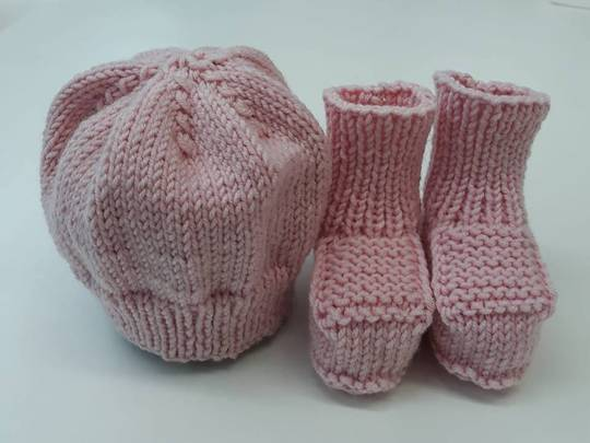 Merino Hat & Bootee Set