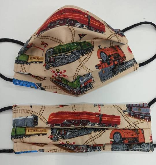 Trains Fabric Facemask