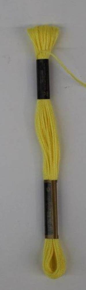 Stranded Cotton Cross Stitch Threads - Yellow Shades
