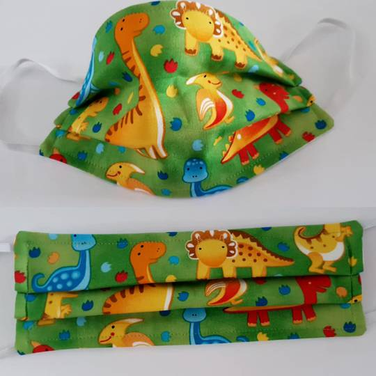 Dinosaurs Fabric Facemask
