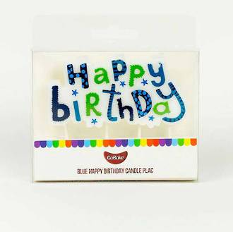 Happy Birthday Candle Plaque