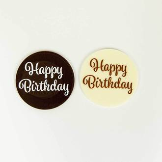 Happy Birthday Chocolate Plaque