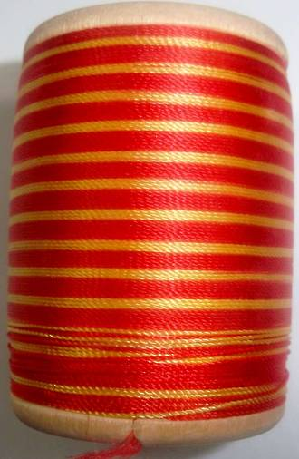 400 yd. Gudebrod Wrapping Thread Red/Yellow - $9.99 ea.