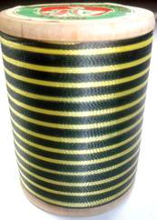 400 yd. Gudebrod Wrapping Thread Black/Yellow - $9.99 ea.