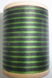 400 yd. Gudebrod Wrapping Thread Green/Black - $9.99 ea.