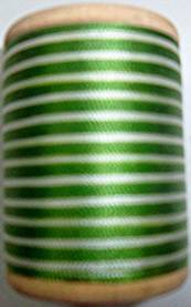 400 yd. Gudebrod Wrapping Thread Green/White - $9.99 ea.