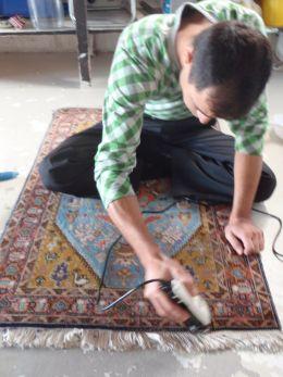 Restoration of rug sun damaged by UV
