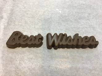 Best Wishes Chocolate Message