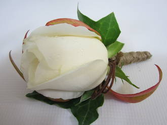 Buttonhole: White Rose