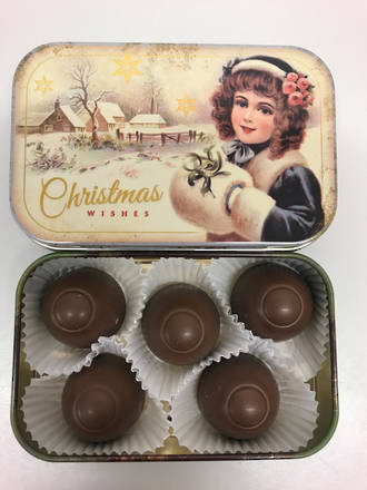 Vintage Christmas Wishes Tin