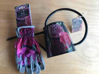 Britsih Bloom Watering Can & Gardening gloves.