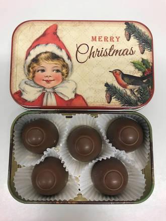 Vintage Merry Christmas tin