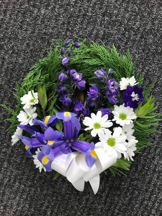 Wreath in purples