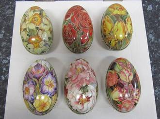 Flower  Egg Tins