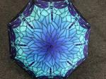 Stunning Blue Dragonfly Umbrella