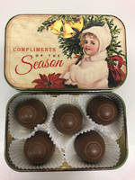 Vintage Compliments of the Season tin