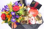 Flowers and Chocolate Gift Hamper - Deluxe