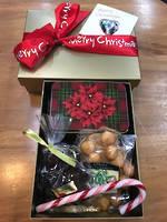 Gold Xmas Gift Box