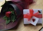 Romantic Red Rose & Scilla Chocolates