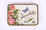 Flower and Butterfly Tin