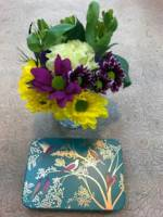 Tealight Posy & Chocolate Tin