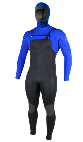 Enduro Mens INTERCHANGEABLE HOOD Chest Zip Winter Wetsuit
