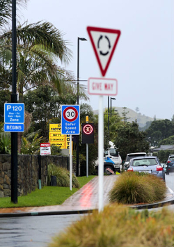 Orewa North signage on drive test