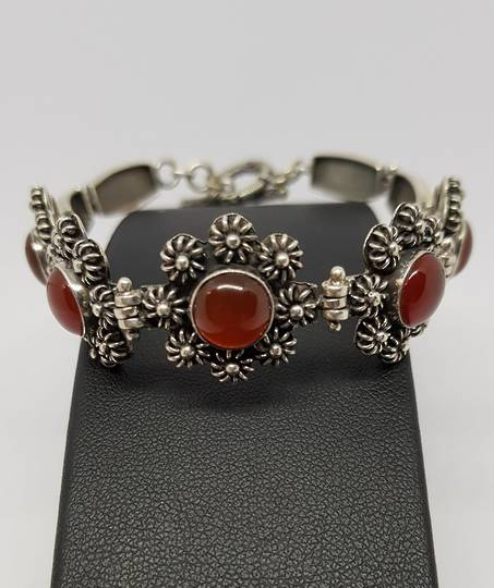 Sterling silver carnelian bracelet - price reduced